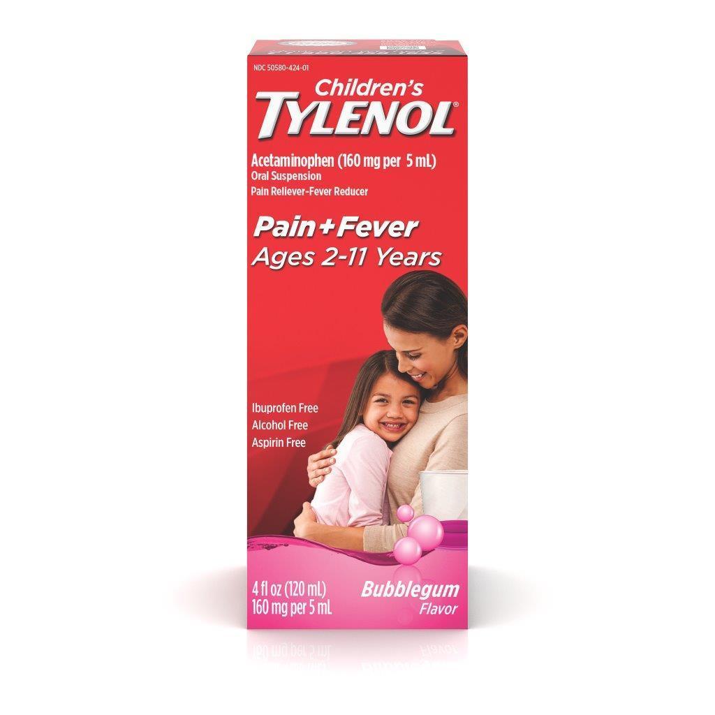 Tylenol Children's Liquid, Bubblegum Flavor, 4 Oz.