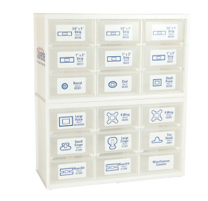 18-Drawer Empty Coverlet® Cabinet (without Bandages)