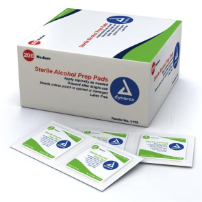 Economy Medium Alcohol Prep Pads, 200/Box