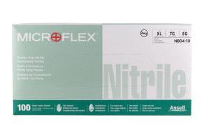 Microflex Nitrile Powder-Free Gloves, X-Large 100/Box