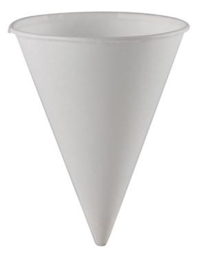 Economy 4 Oz Paper Cone Cups, 200/Tube
