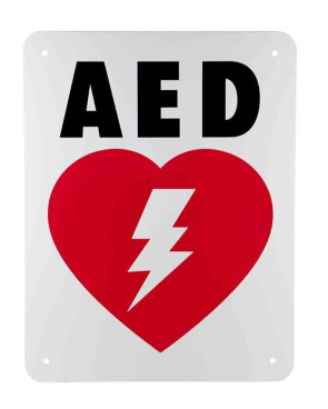 """Flat AED Sign, 9"""" x 11.5"""""""