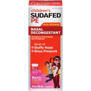 Children's Sudafed PE Nasal Decongestant Liquid, 4 Oz.