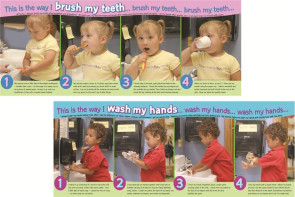 Wash Hands/Brush Teeth Poster Set