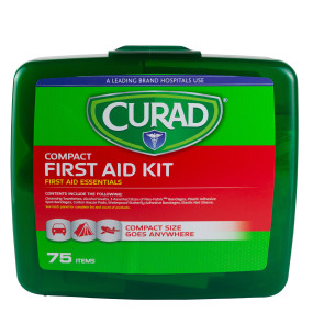 Curad Compact First Aid Kit, 75 Pieces