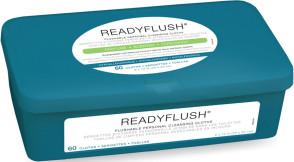 Ready Flush™ Scented Flushable Wet Wipes, 60/Tub