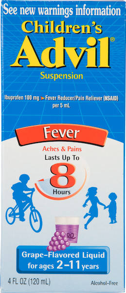 Advil Children's Liquid 4 oz, 100 mg per 5 ml