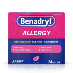 Benadryl Allergy Ultra Tablets, 24/Box