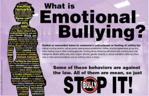 Emotional Bullying Poster