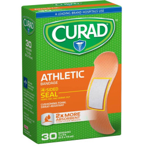 Curad Athletic Foam Bandages, 30/Box
