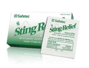 Sting Relief Towelettes  10/Box