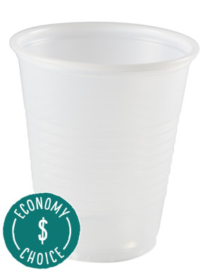 Economy Clear 5 Oz Plastic Cups, 100/Sleeve