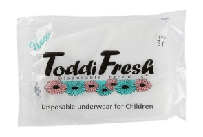 Toddi Fresh Disposable Underwear, Size 2T-3T
