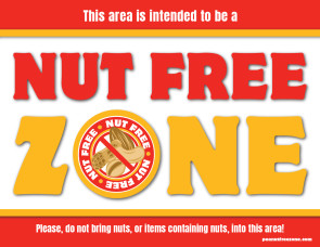 Nut Free Zone Sign