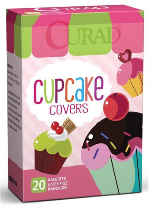 Curad Cupcakes Assorted Bandages, 20/Box