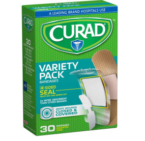 Curad Bandages, Variety Pack, 30/Box