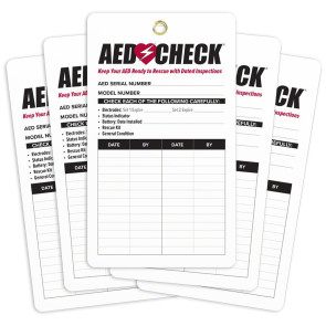 AED Inspection Tags 5/Pack