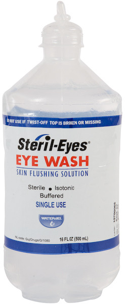 Irrigate Eye Wash, 16 Oz Snap Off Bottle