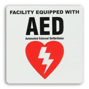 AED Facility Equipped Sticker