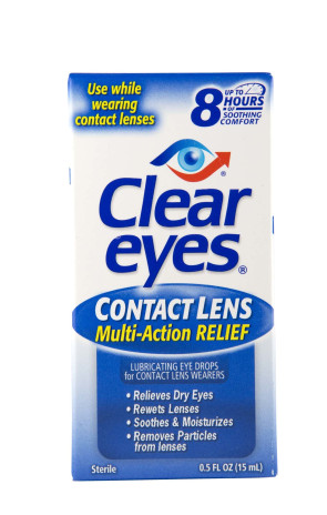 Clear Eyes Contact Lens Relief Eye/Contact Drops, 1/2 Oz.