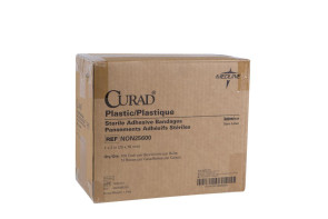 "1"" x 3"" Curad Plastic Bandages, 12 Boxes/Case"