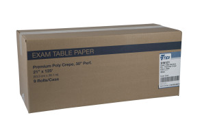 """Perforated Poly Crepe 21"""" Exam Paper, Case of 9 Rolls"""