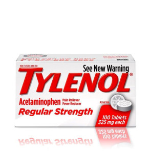 Tylenol Regular Strength 325 mg Tablets, 100/Bottle
