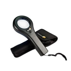 Dazor Handheld Mini Magnifier with LED and UV Bulb