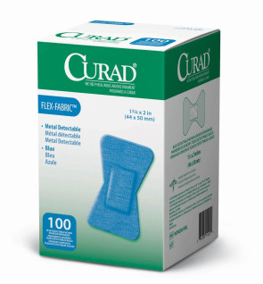 Curad Food Service Flex. Fabric Fingertip Bandages, 100/Box
