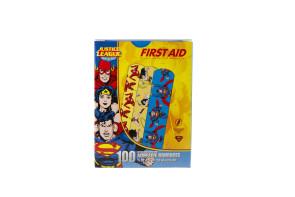 """Justice League Bandages, 3/4"""" x 3"""", 100/Box"""