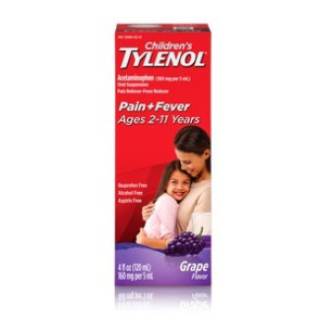 Tylenol Children's Liquid, 4 Oz. Grape Flavor