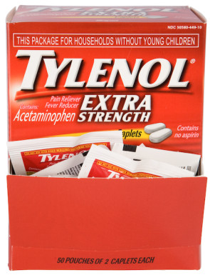 Tylenol Extra-Strength, 500 mg Unit Dose Packets, 50/Box