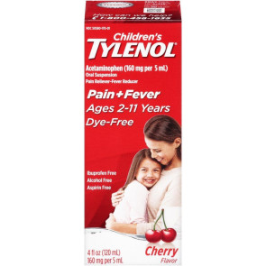 Tylenol Children's Dye-Free Liquid, Cherry, 4 Oz.
