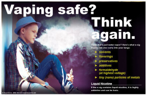 "Vaping Safe? Poster 11"" X 17"""