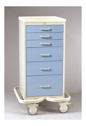Slate Blue 6 Drawer Mini Tower Treatment Cart