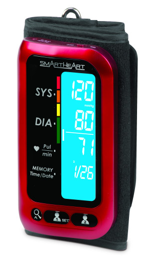 SmartHeart Blood Pressure Arm Monitor with Attached Cuff