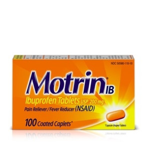 Motrin IB Tablets 200 mg, 100/Bottle