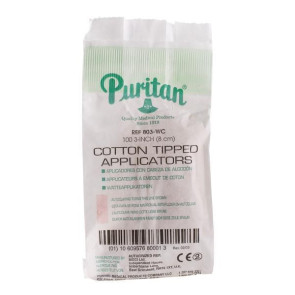 "Puritan 3"" Cotton Tipped Applicators (100/Bag)"