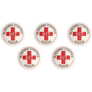 Bleeding Control Designation Stickers, 5/Pack