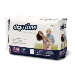 DryTime Disposable Protective Youth Underwear, SM/MD, 15/Bag