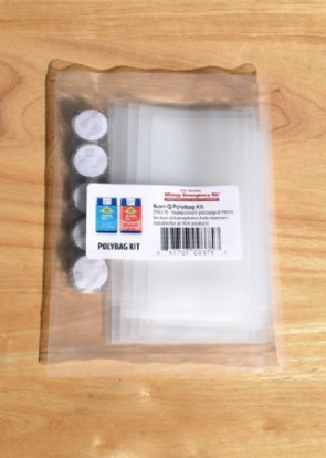 AEK Auvi-Q Polybag/Velcro Refill Kit, 15/Pack