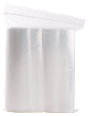 "Economy Storage Bags, 6"" x 8"", Zipper Seal, 2 ml (100/Pkg)"