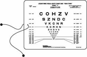 Precision Vision Near Vision Card, Sloan