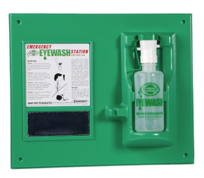 Eye Wash Safety Station with Empty 16 oz. Eye Wash Bottle