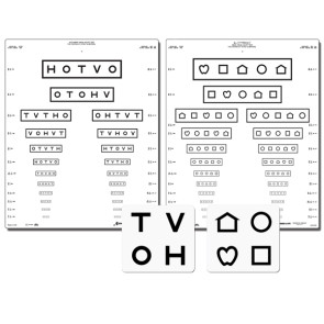 Good-Lite 10 Foot Vision Chart Set, LEA Symbols & HOTV