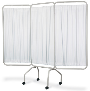 3 Panel Screen with Casters