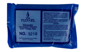 """Reusable Blue Ice 4"""" x 6"""" Cold Pack"""