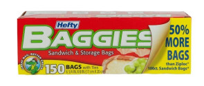 """Economy Sandwich Bags, 6.75""""x 8"""", Twist Tie (150/Bx)"""