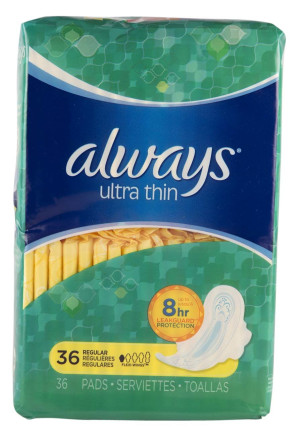 Always Thin Ultra with Wings 36/Pkg