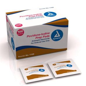 PVP Iodine Prep Pads 100/Box